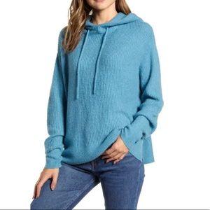 LOU & GREY Blue Stitchy Tunic Sweater
